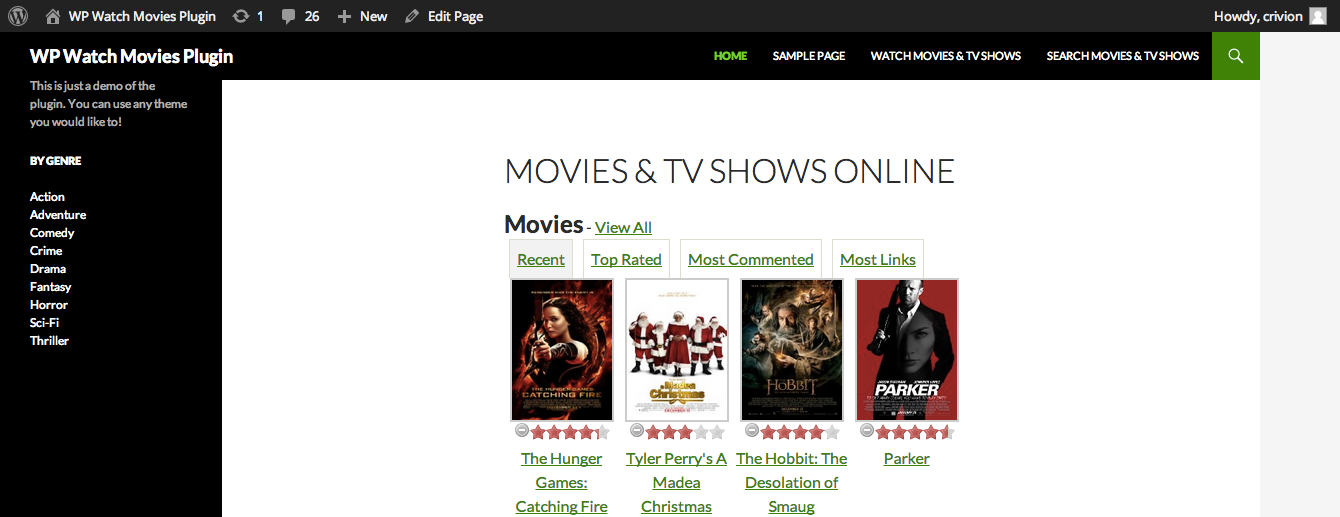 WP Watch Movies & TV Shows Online by crivion | CodeCanyon