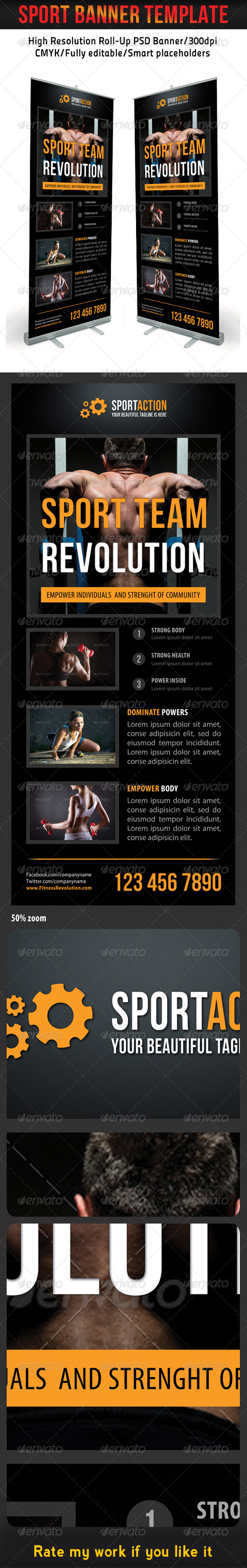 Sport Banner Template 12 - Signage Print Templates