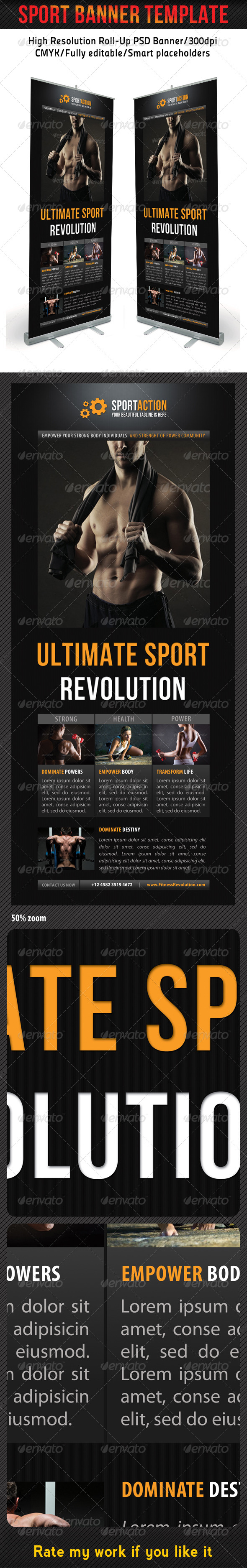 Sport Banner Template 13 - Signage Print Templates