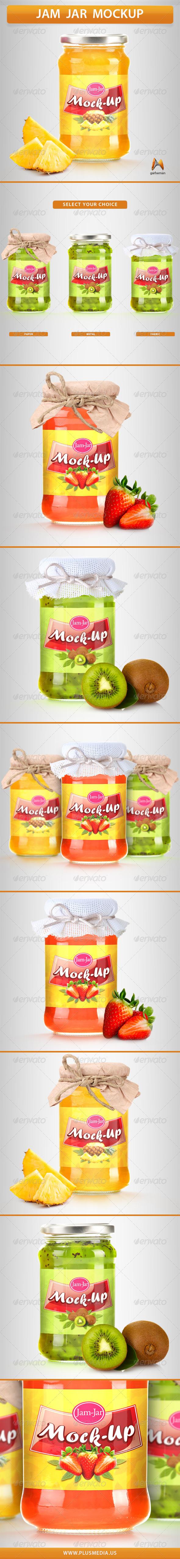 Jam Jar Mockup - Product Mock-Ups Graphics