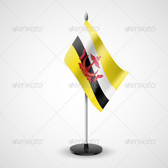 Table Flag of Brunei - Miscellaneous Vectors