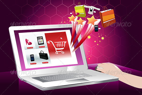 The Concept of Online Shopping - Commercial / Shopping Conceptual