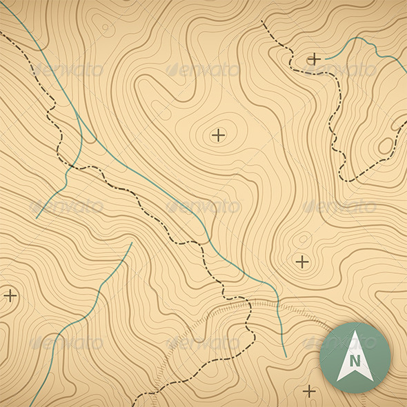 Topographic Map - Patterns Decorative