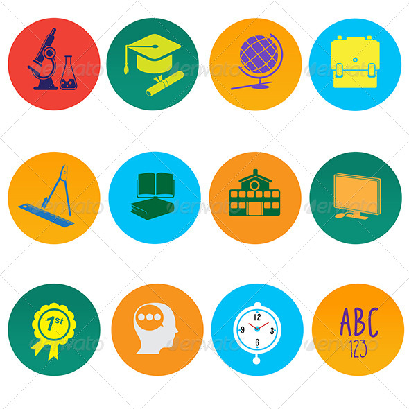education icons by artisticco graphicriver