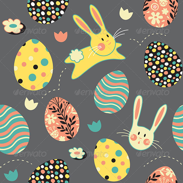 Easter Bunny Egg Repeat Pattern - Miscellaneous Seasons/Holidays