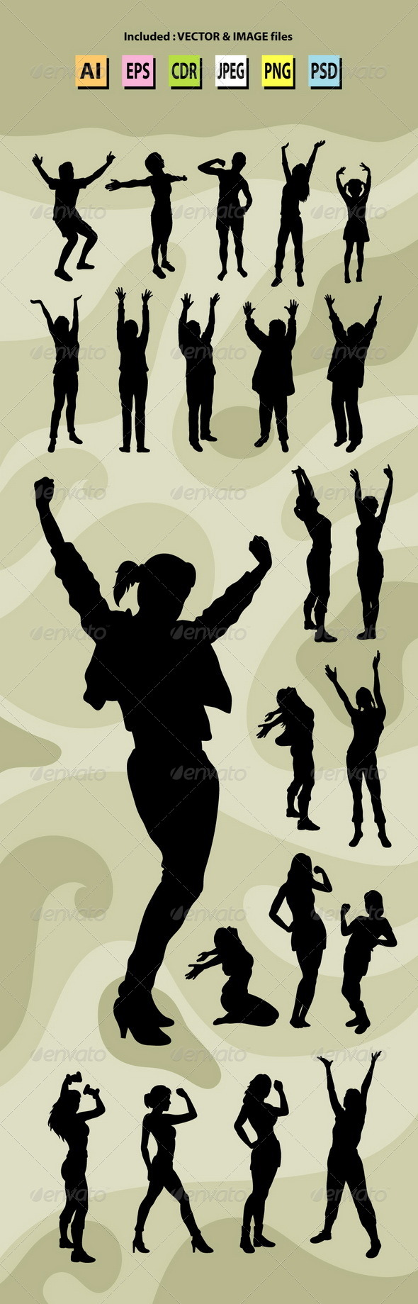 Healthy People Silhouettes - People Characters