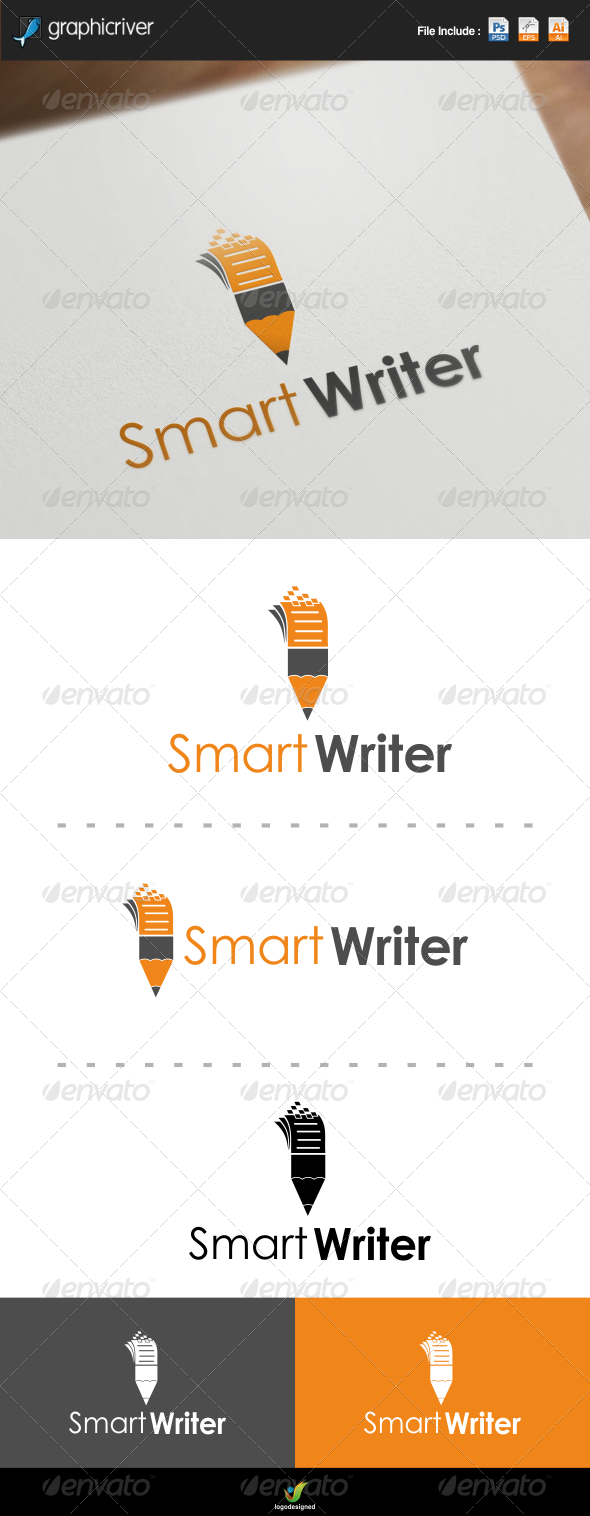 Smart Writer Logo - Symbols Logo Templates
