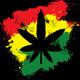 Marijuana Rastafarian Grunge - GraphicRiver Item for Sale
