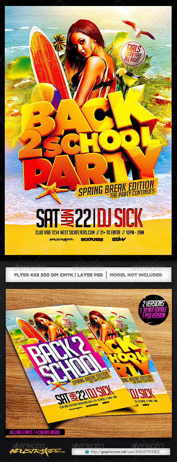 Back to School Spring Break Edition - Clubs & Parties Events