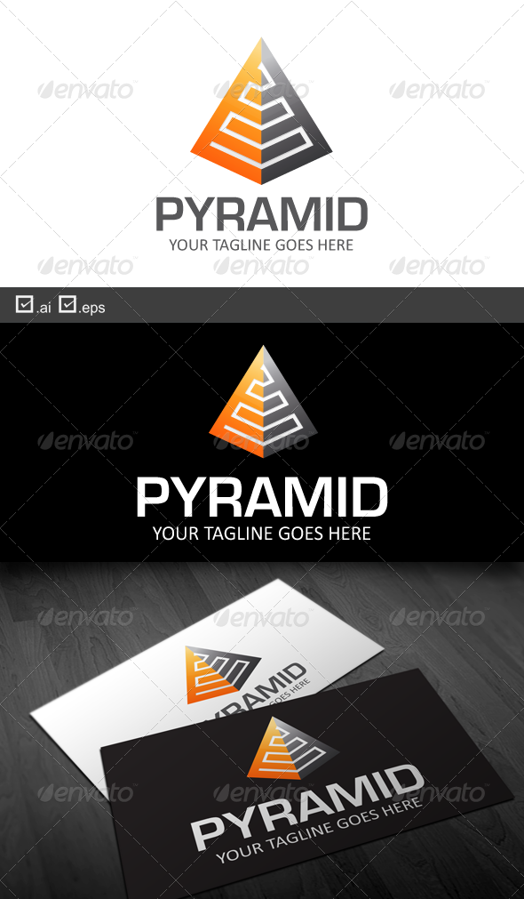 Pyramid - Buildings Logo Templates