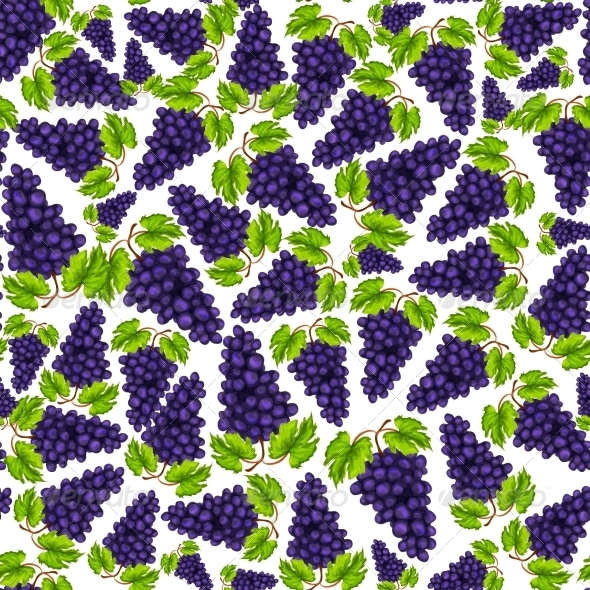 Grapes Pattern - Backgrounds Decorative