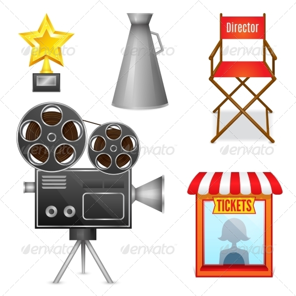 Cinema Entertainment Decorative Icons - Media Technology