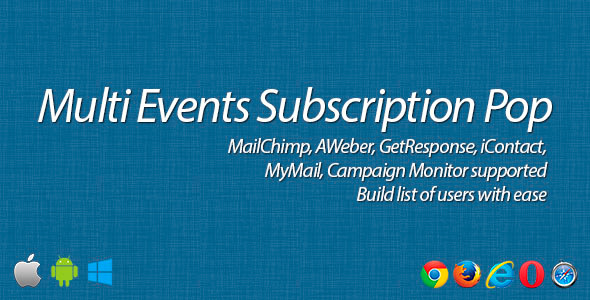 Multi Events Subscription Pop - CodeCanyon Item for Sale