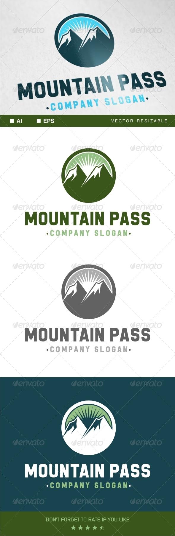 Mountain Pass Logo - Nature Logo Templates