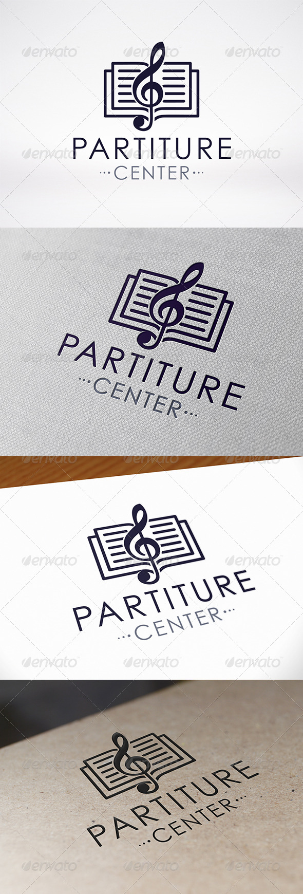 Music Book Logo Template - Objects Logo Templates
