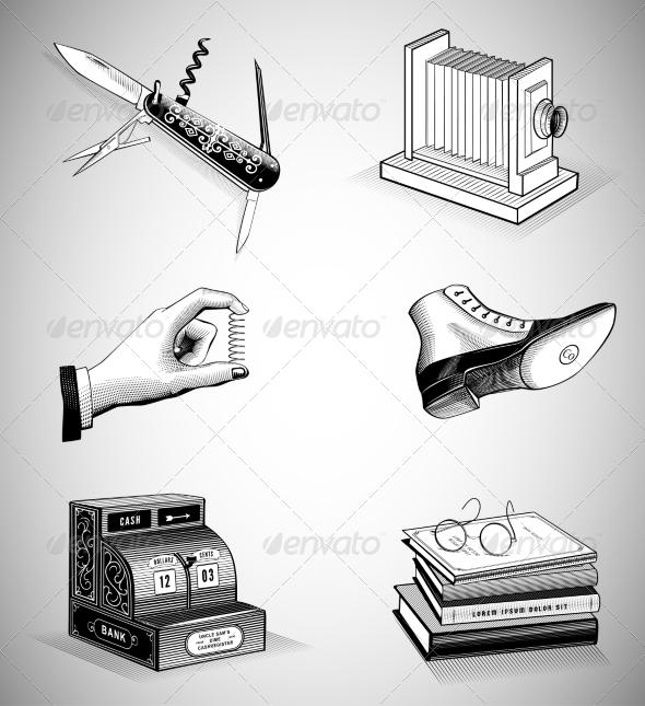 Vintage Icons - Retro Technology