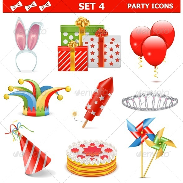 Party Icons Set 4 - Birthdays Seasons/Holidays