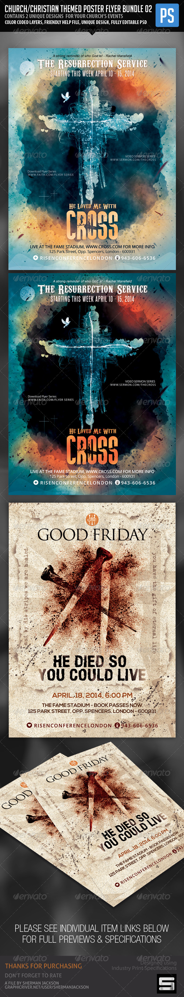 Church/Christian Themed Poster/Flyer Bundle#2 - Church Flyers