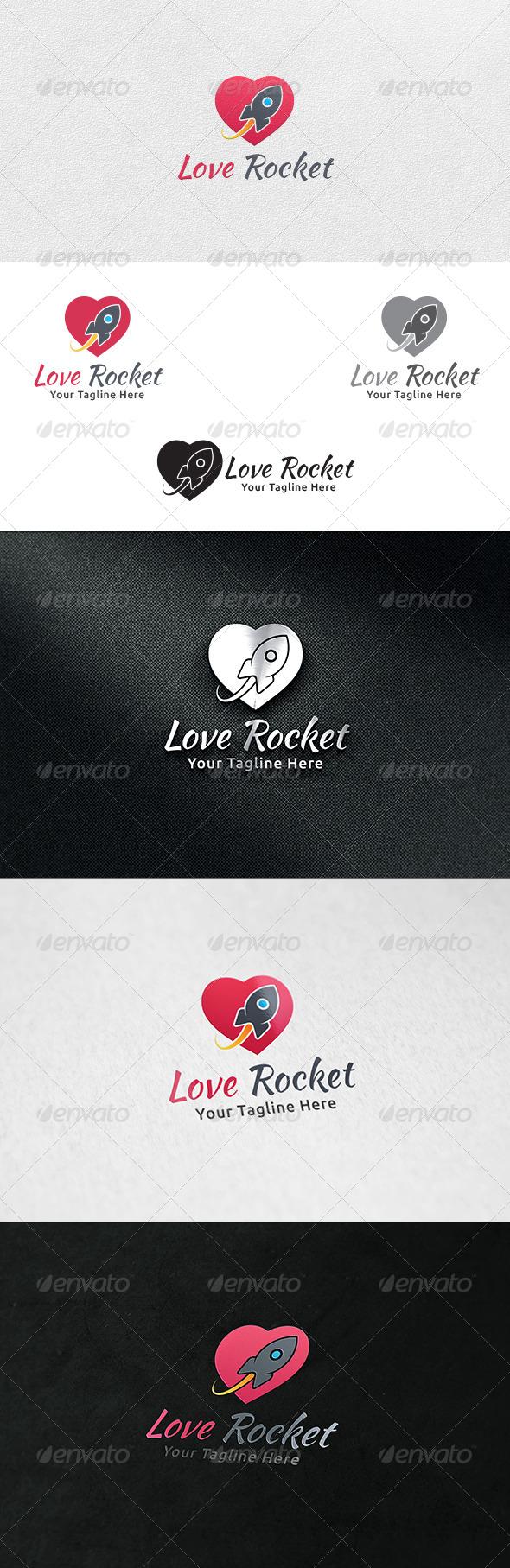 Love Rocket - Logo Template - Symbols Logo Templates
