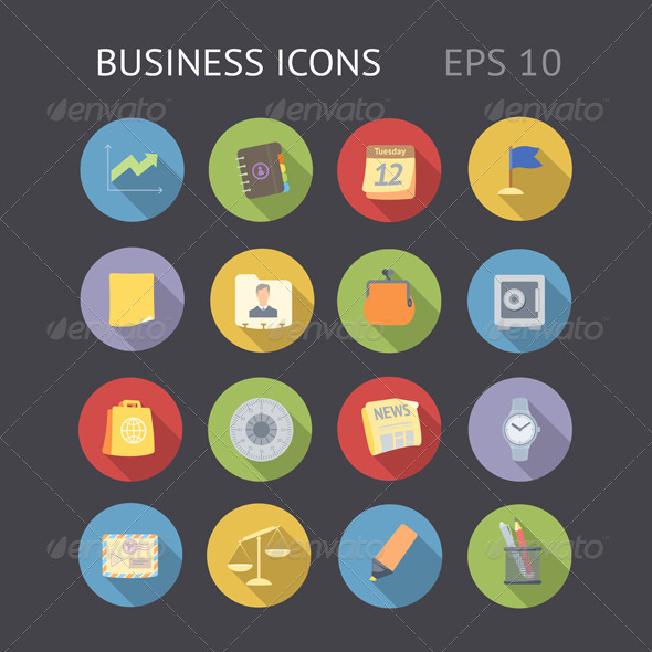 Flat Icons for Business - Business Icons