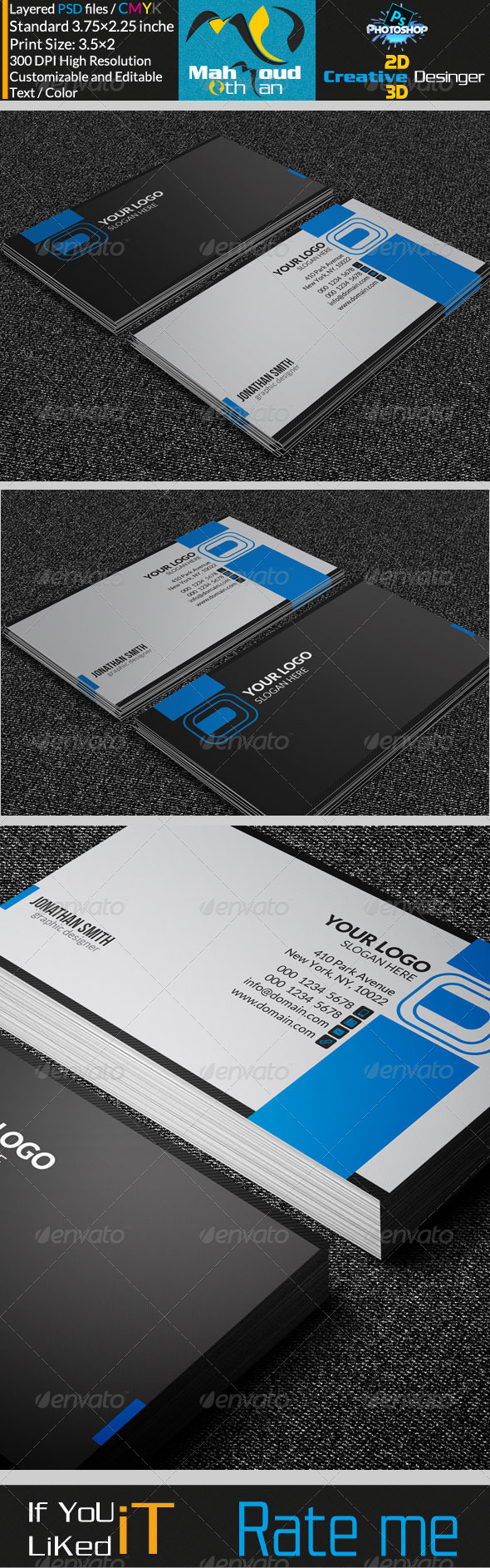 Modern Corporate Business Card 16 - Corporate Business Cards
