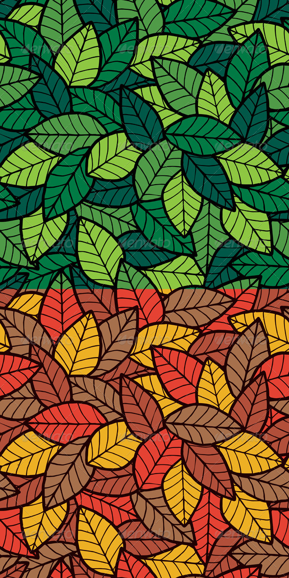 Leafs Seamless Pattern - Patterns Decorative