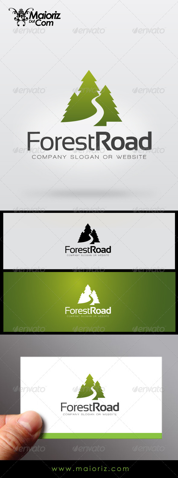 Forest Road Logo - Nature Logo Templates