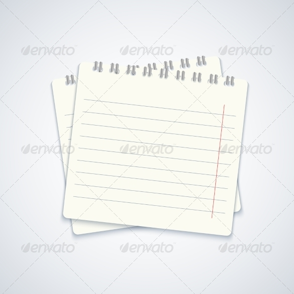 Modern Notebook on Gray Background - Concepts Business