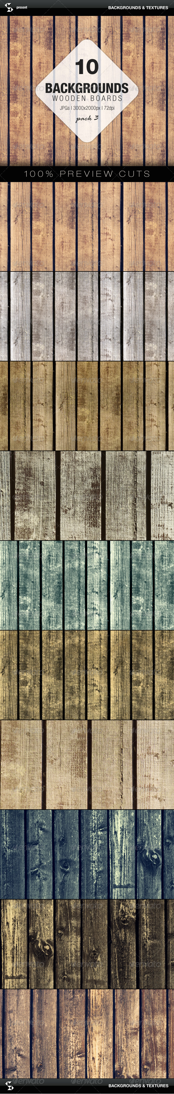 Wooden Boards Background 3 - Nature Backgrounds