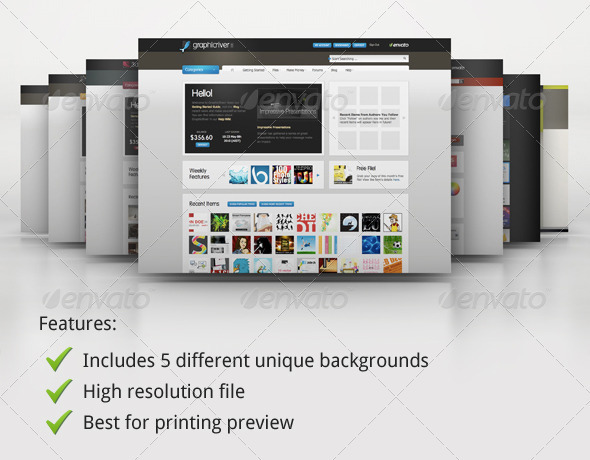 Mock-up Master - Product Display Series 01 - Website Displays