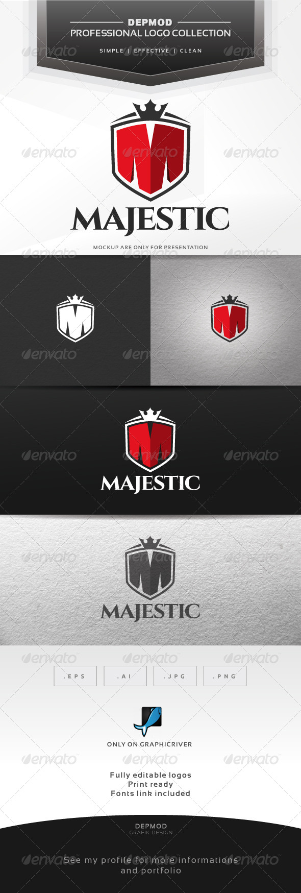 Majestic Logo - Letters Logo Templates
