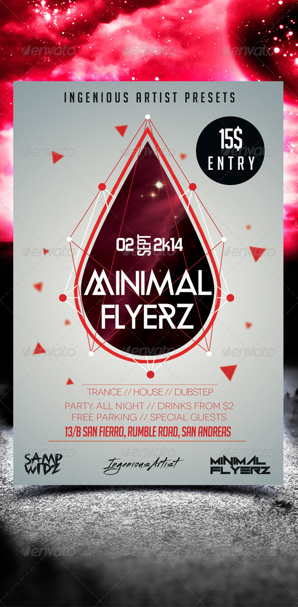 Minimal Flyer Vol.9 - Clubs & Parties Events
