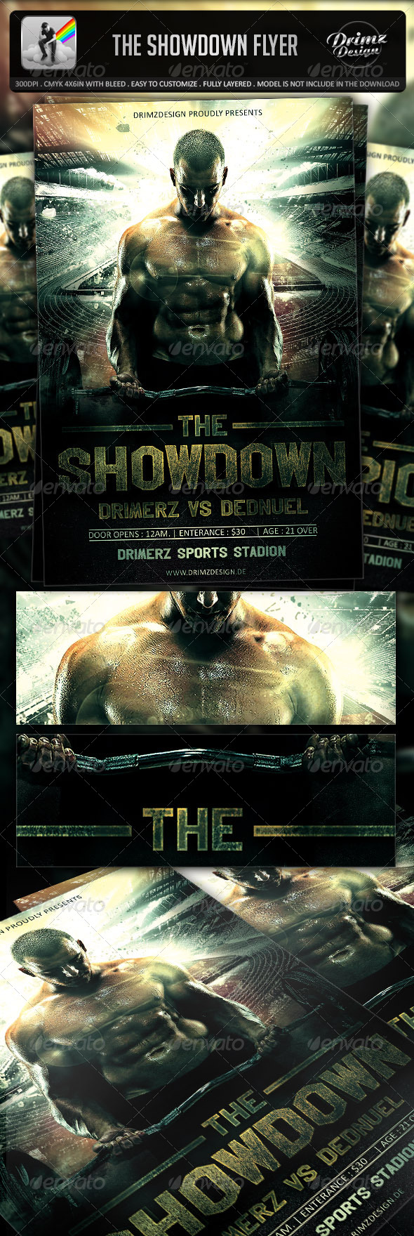 The Showdown Flyer - Events Flyers