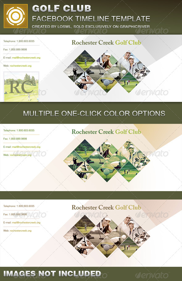 Golf Club Facebook Timeline Cover Template - Facebook Timeline Covers Social Media