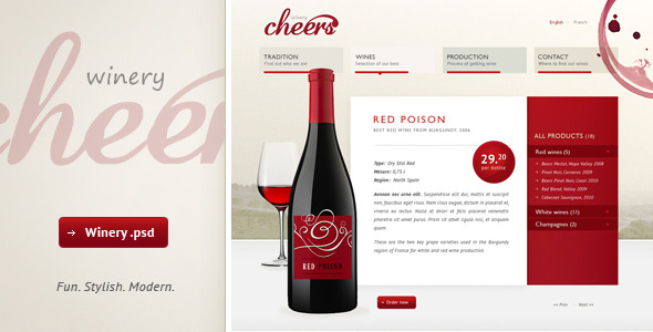Free Download Cheers - premium .psd for winery Nulled Latest Version