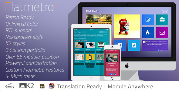 Flat-Metro – Responsive Multi-Purpose Joomla Theme