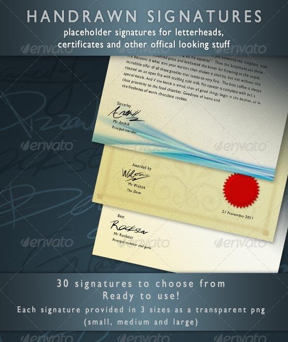 Placeholder Signatures - Miscellaneous Print