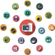 Multimedia Flat Icons - GraphicRiver Item for Sale