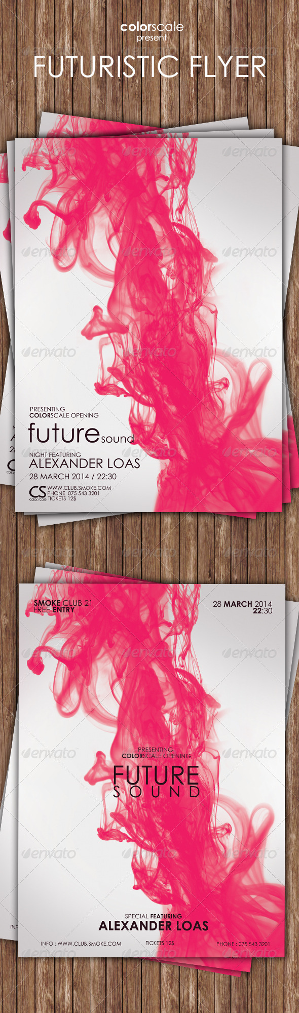 Futuristic Flyer - Flyers Print Templates