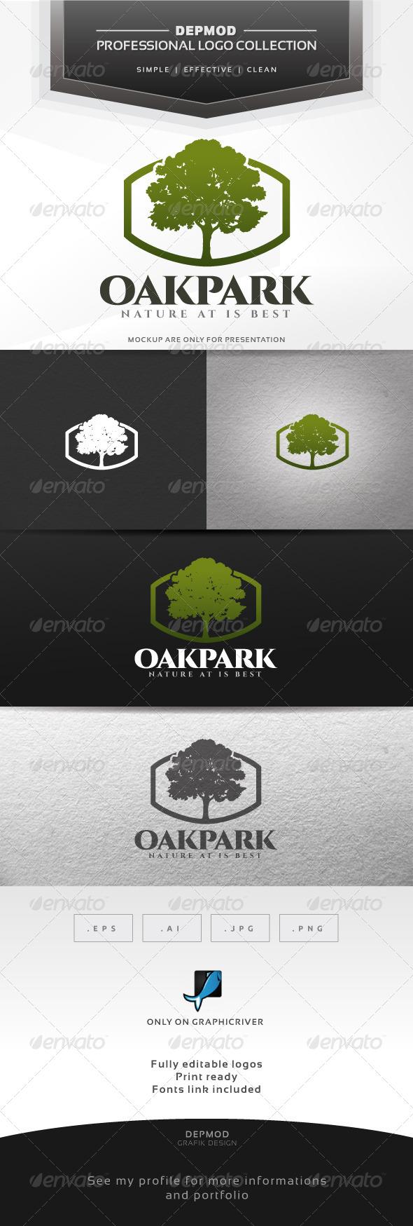 Oak Park Logo - Nature Logo Templates