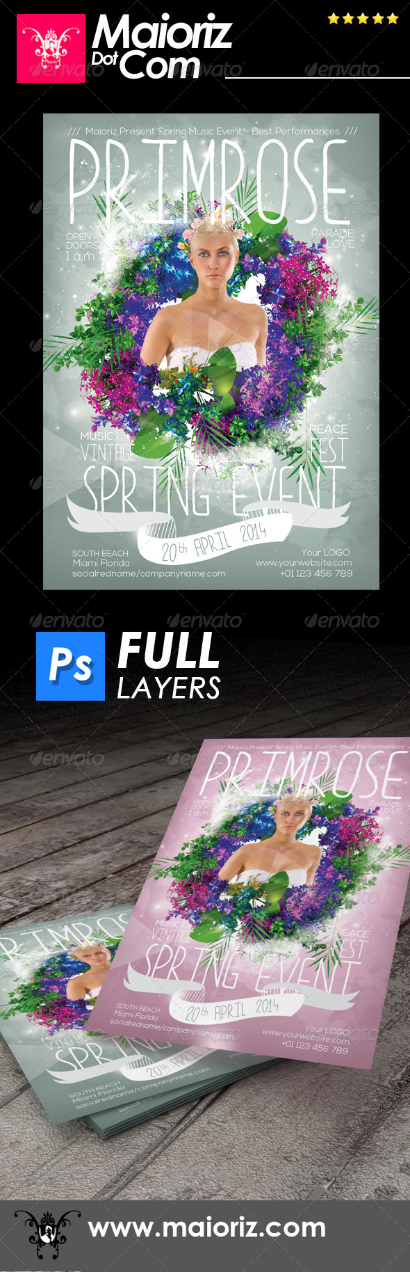Spring Event Flyer - Clubs & Parties Events