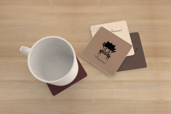 Coaster Mockups By Wutip Graphicriver