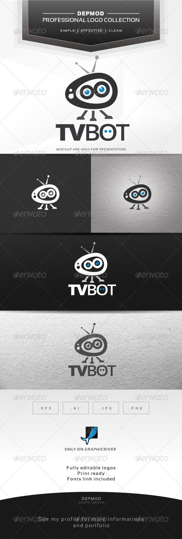 TV Bot Logo - Symbols Logo Templates