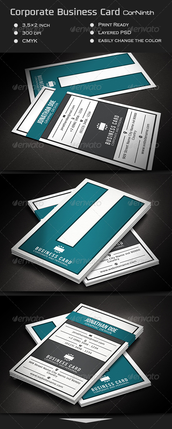 Corporate Business Card CorNinth - Corporate Business Cards