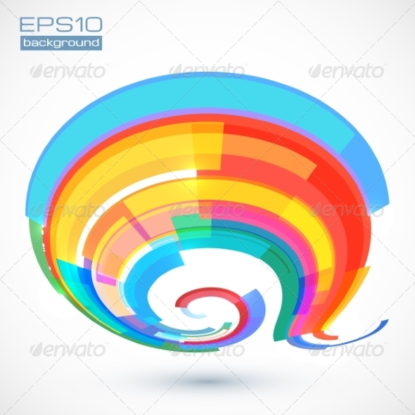 Abstract Colorful Curve - Abstract Conceptual