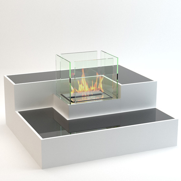 Ethanol Fireplace - 3DOcean Item for Sale