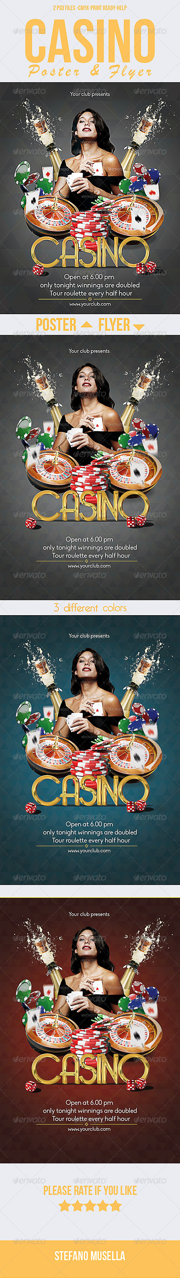 Casino Poster and Flyer - Clubs & Parties Events