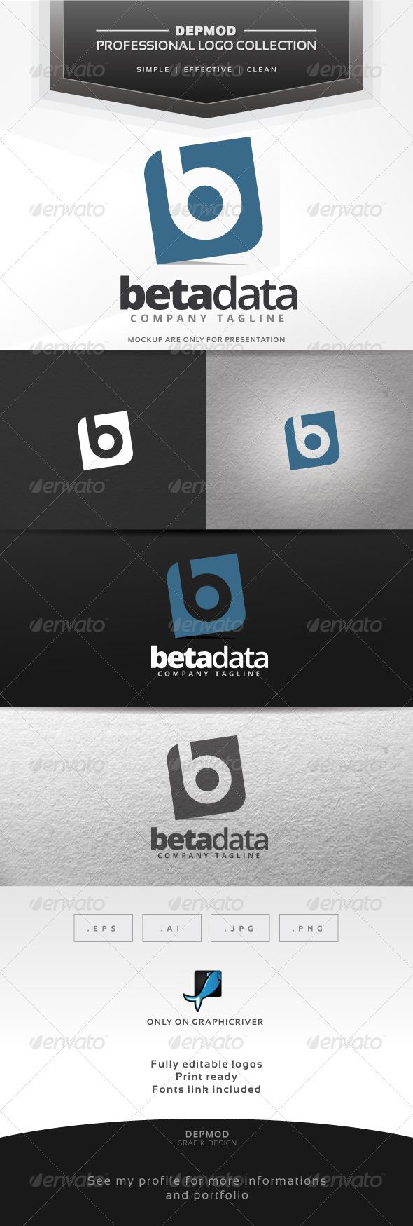 Beta Data Logo - Letters Logo Templates