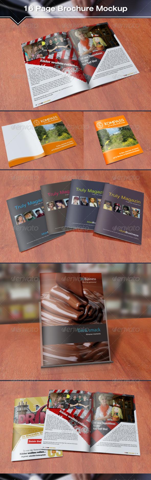 16 Page Brochure Mockup - Brochures Print