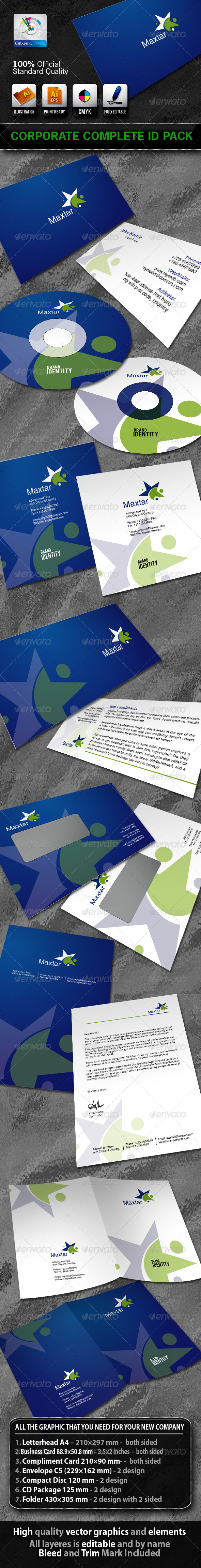 Maxtar Business Corporate ID Pack With Logo - Stationery Print Templates